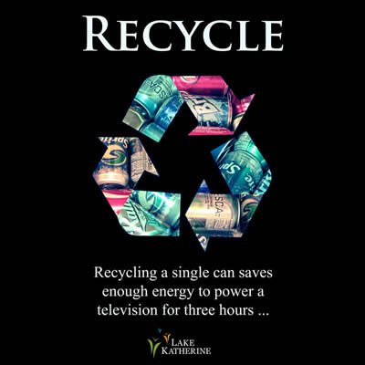 Recycling a single can saves energy to power a tv for 3 hours